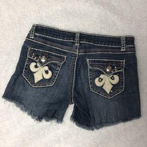 Miss Chic Jeans Shorts - Cutoff Shorts